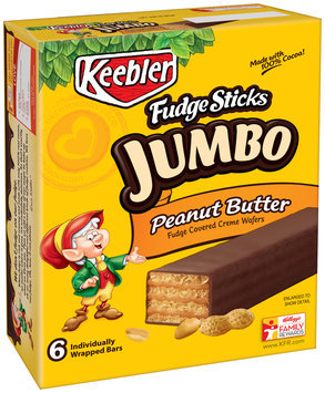 Keebler Fudge Sticks Jumbo Peanut Butter Cookies
