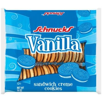 Schnucks Vanilla Sandwich Creme Cookies