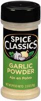 Spice Classics® Garlic Powder 2.5 oz. Shaker