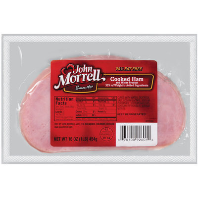 John Morrell Sliced Ham Cooked Lunchmeat 16 Oz Well