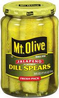Mt. Olive Dill Spears Jalapeno Flavored Fresh Pack Pickles 24 Oz Jar