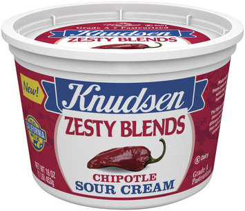 Knudsen Zesty Blends Chipotle Sour Cream 16 Oz Tub
