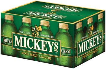 Mickeys 12 Oz Fine Malt Liquor 12 Pk Glass Bottles