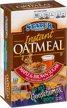 Stater bros® Maple & Brown Sugar Instant Oatmeal