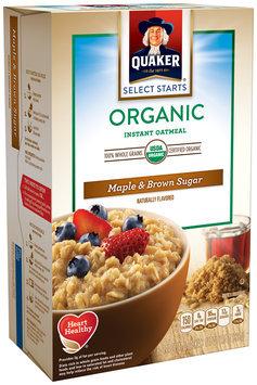 Quaker® Select Starts Oatmeal Maple & Brown Sugar Organic Instant Oatmeal