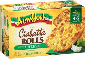 New York® Olde World Ciabatta Rolls with Real Cheese 10 oz. Box