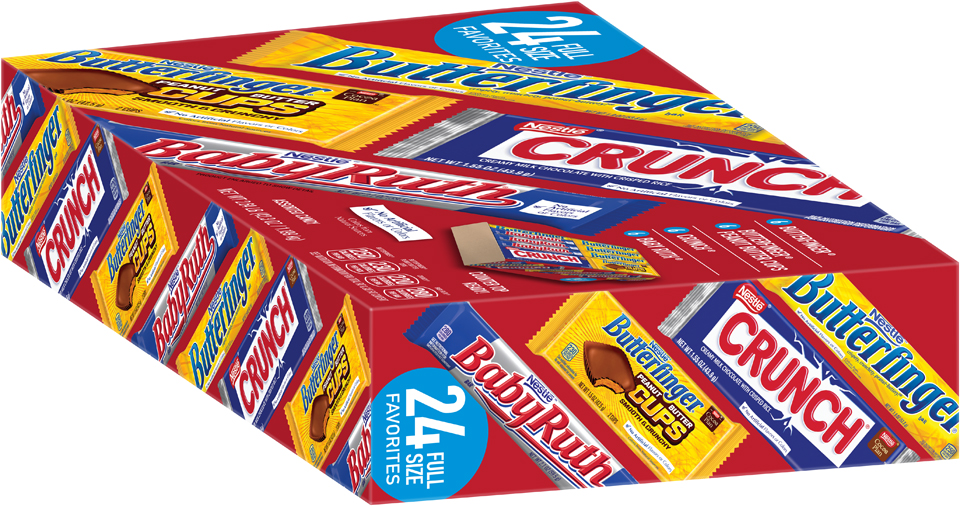 Nestlé Assorted Full Size Candy Bars 24 ct Box