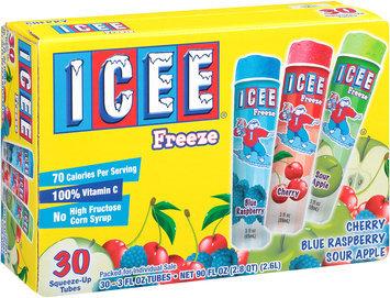 Icee® Cherry/Blue Raspberry/Sour Apple Freeze Squeeze-Up Tubes 30-3 fl. oz. Tubes