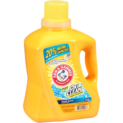 Arm & Hammer™ Fresh Scent Liquid Laundry Detergent Plus OxiClean™ Stain Fighters 122.5 fl. oz. Jug