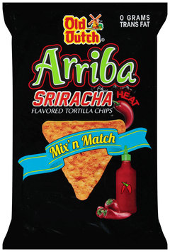 Old Dutch® Arriba® Sriracha Flavored Tortilla Chips 8 oz. Bag