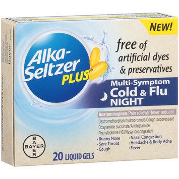 Alka-Seltzer Plus® Night Cold & Flu Multi-Symptom Relief Liquid Gels 20 ct Box