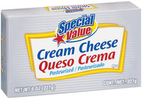 Special Value Pasteurized Cream Cheese 8 Oz Box