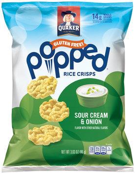 Quaker® Popped® Sour Cream & Onion Rice Crisps 3.03 oz. Bag