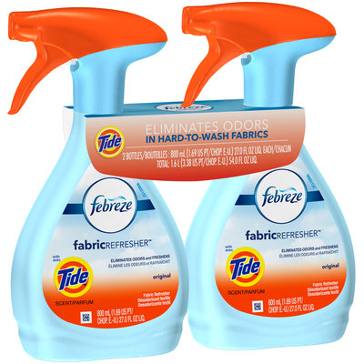 Febreze Fabric Refresher with Tide Original Scent Air Freshener (2 Count, 54 fl oz)