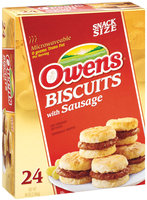 Owens Biscuits W/Sausage Snack Size Sandwiches