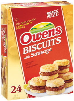 Owens Biscuits W/Sausage Snack Size Sandwiches