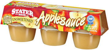 Stater Bros. Unsweetened 4 Oz  Applesauce 6 Pk Cup