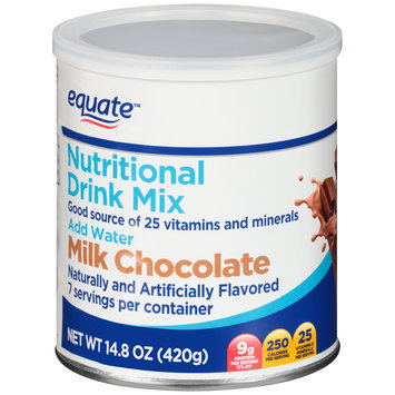 Equate™ Milk Chocolate Nutritional Drink Mix 14.8 oz. Canister