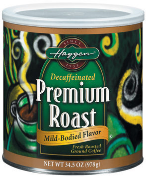 Haggen Premium Roast Decaffeinated Mild-Bodied Coffee 34.5 Oz Canister