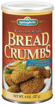Springfield Seasoned Italian Style Bread Crumbs 8 Oz Canister