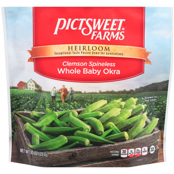 Pictsweet Farms® Heirloom Clemson Spineless Whole Baby Okra 10 oz. Stand-Up Bag