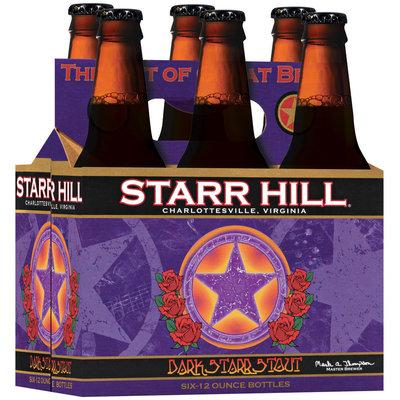 Starr Hill 12 Oz Dark Starr Stout Beer 6 Pk Glass Bottles