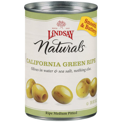 Lindsay Naturals California Green Ripe Olives 6 Oz Pull-Top Can