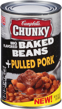 Campbell's® Chunky™ BBQ Flavored Baked Beans + Pulled Pork 20.5 oz. Can