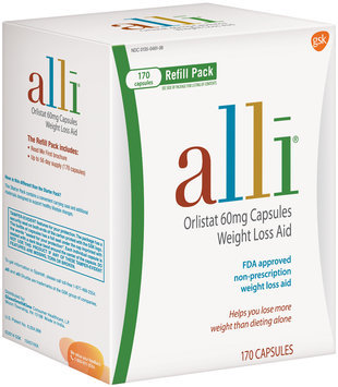 Alli® Refill Pack Orlistat Weight Loss Aid 60mg Capsules 170 ct Box