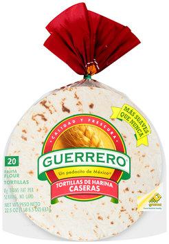 Guerrero® Tortillas de Harina Caseras Fajita Flour Tortillas 22.5 oz. Bag
