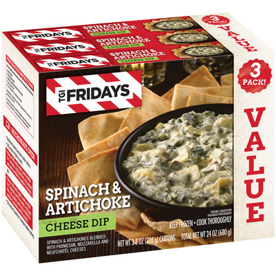 TGIFriday's® Spinach & Artichoke Cheese Dip 3 ct Box