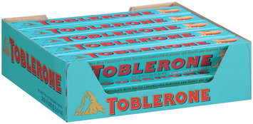 Toblerone Swiss Milk Chocolate with Salted Caramelized Almonds & Honey & Almond Nougat 20-3.52 oz. Boxes