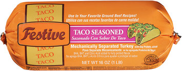 Festive Taco Seasoned Ground Turkey