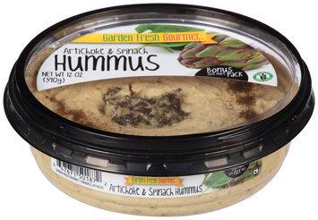 Garden Fresh Gourmet® Artichoke & Spinach Hummus 12 oz. Tub