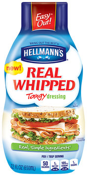 Hellmann's® Real Whipped Tangy Dressing 22 fl. oz. Squeeze Bottle