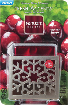 renuzit® fresh accents™ holiday winter berry air freshener gel & holder