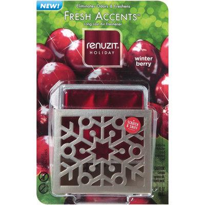 Renuzit® Fresh Accents™ Holiday Winter Berry Air Freshener Gel & Holder 0.27 Oz