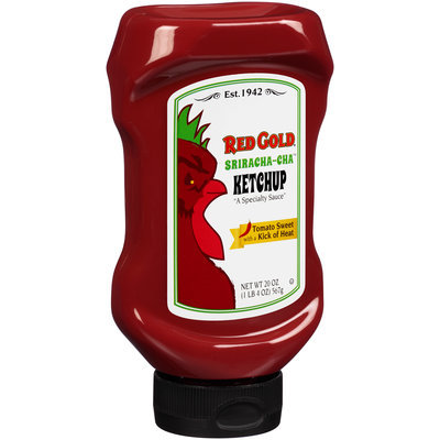 Red Gold® Sriracha-Cha™ Ketchup 20 oz. Squeeze Bottle