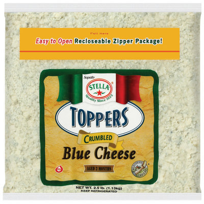 Stella® Toppers® Blue Cheese Crumbled Cheese 2.5 Lb Bag