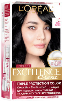 L'Oréal® Paris Excellence® Creme Triple Protection Color 1C Cool Black Hair Color Kit Box