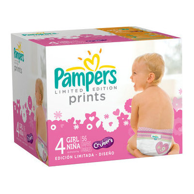 Pampers® Limited Edition Prints Girls Size 4 Diapers