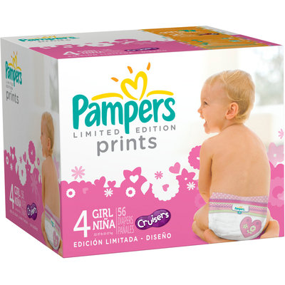 Pampers® Limited Edition Prints Girls Size 4 Diapers 56 ct Box