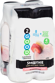 2Good™ Strawberry Banana Flavor Smoothie 4-8 fl. oz. Pack