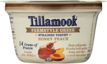 Tillamook® Farmstyle Greek Honey Peach Strained Lowfat Yogurt 5.3 oz. Cup
