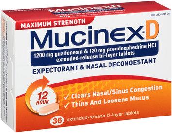 Mucinex® D Maximum Strength Extended-Release Bi-Layer Expectorant & Nasal Decongestant Tablets 36 ct Box