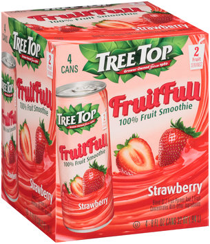 Tree Top® Fruit Full Strawberry 100% Fruit Smoothie 4-8 fl. oz. Cans