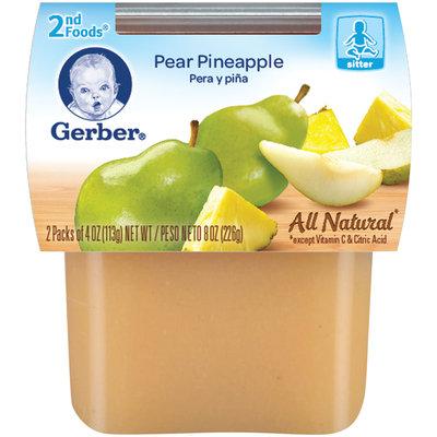 Gerber 2nd Foods Pear Pineapple 8 Oz Sleeve