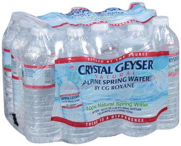 Crystal Geyser® Natural Alpine Spring Water® by CG Roxane, 15-16.9 fl. oz. Bottles