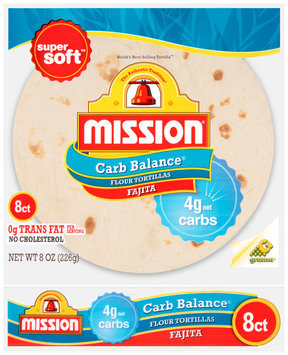 Mission® Carb Balance® Small Fajita Flour Tortillas 8 ct Bag