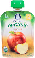 Gerber Organic 1st Foods Apples Baby Food 3.17 oz. Pouch